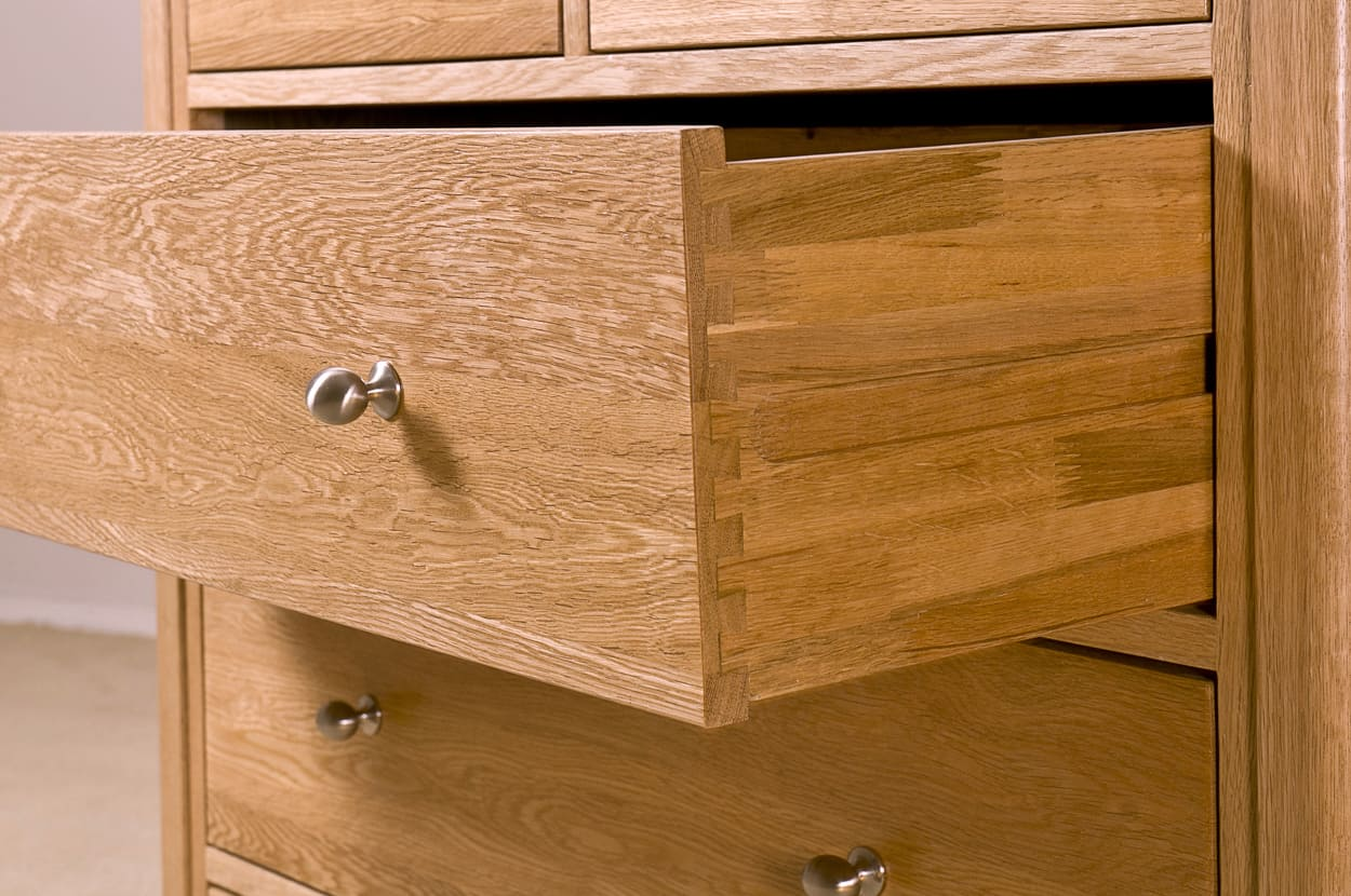 Cambridge Oak 3 + 2 Drawer Chest | Furniture Plus Online