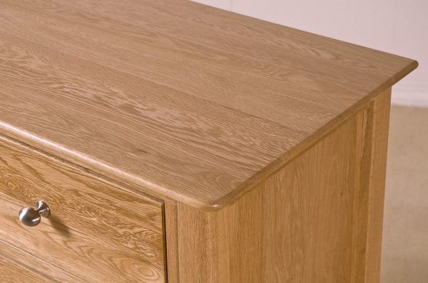 Cambridge Solid Oak 2 over 3 Drawer Chest   Fully Assembled