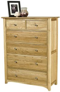 Cambridge Solid Oak 2 over 4 Drawer Chest | Fully Assembled