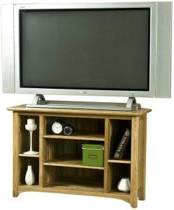 Cambridge Solid Oak Corner TV Unit | Fully Assembled