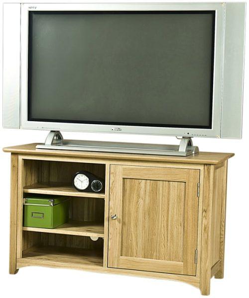 Cambridge Solid Oak 1 Door TV Unit | Fully Assembled