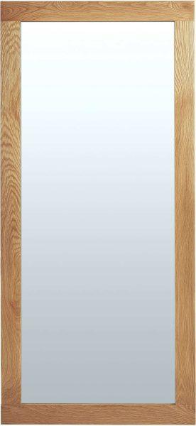 Cambridge Solid Oak Wall Mirror 1300 x 600