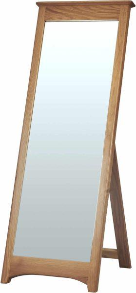 Cambridge Solid Oak Cheval Mirror