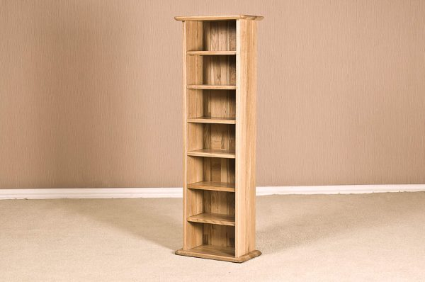 Cambridge Solid Oak CD Rack | Fully Assembled