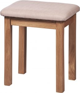 Cambridge Solid Oak Dressing Table Stool
