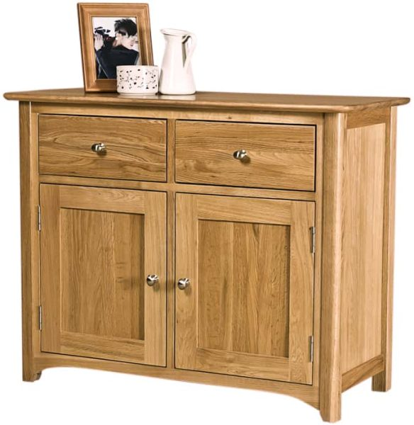 Cambridge Solid Oak Small 2 Door & 2 Drawer Sideboard | Fully Assembled