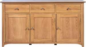 Cambridge Solid Oak 3 Drawer & 3 Door Large Sideboard | Fully Assembled