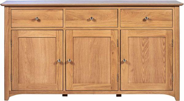 Cambridge Solid Oak 3 Drawer & 3 Door Large Sideboard   Fully Assembled