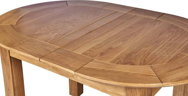 Cambridge Solid Oak Small D-End Extending Dining Table