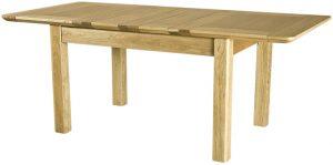 Cambridge Solid Oak 4'6″ Extending Dining Table (2 Leaf)
