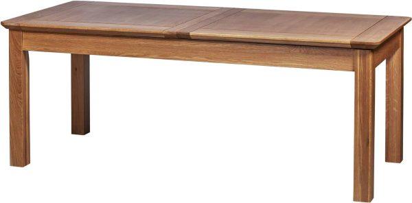 Cambridge Solid Oak 6'8″ Extending Dining Table (2 Leaf)