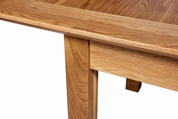 Cambridge Solid Oak 4'6″ Extending Dining Table (2 Leaf)