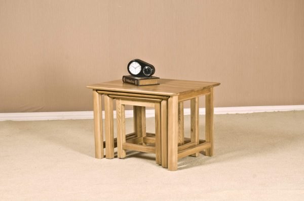 Cambridge Solid Oak Nest of Tables | Fully Assembled