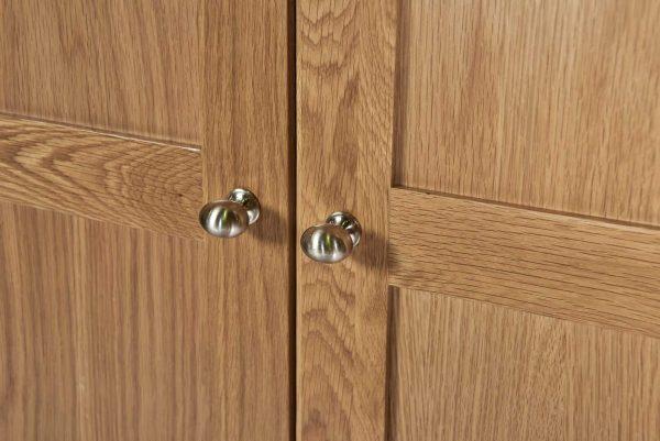Cambridge Solid Oak Full Length 2 Drawer Wardrobe