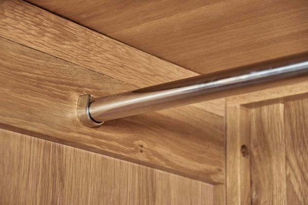 Cambridge Solid Oak 3 Door Triple Wardrobe with Drawers