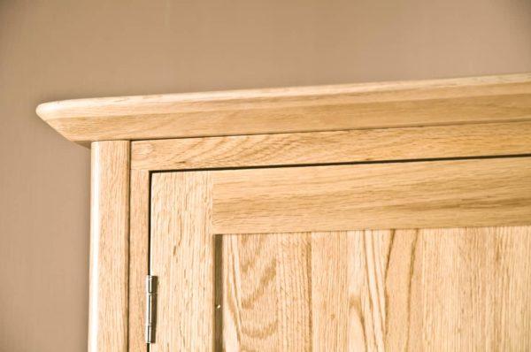 Cambridge Solid Oak 1 Drawer  2 Door Wardrobe