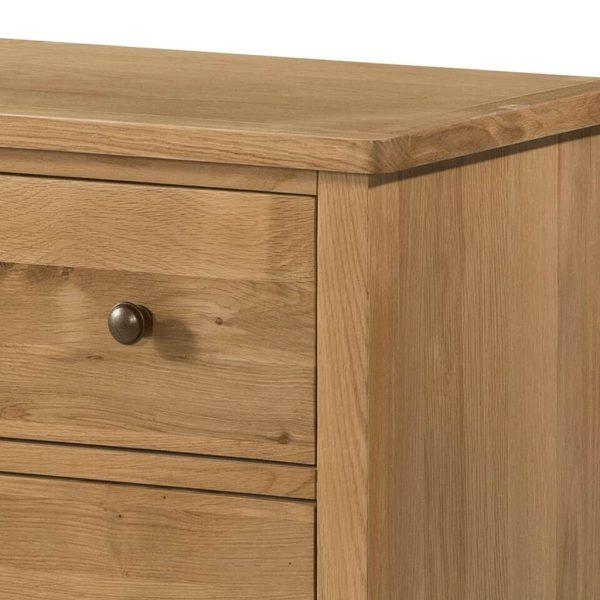 Devonshire Burford Oak 5 Drawer Tall Chest   Fully Assembled