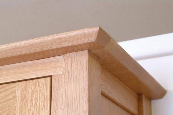 Devonshire New Oak Triple Wardrobe With 3 Doors & 2 Drawers
