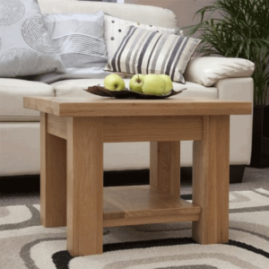 Homestyle Opus Solid Oak 2′ x 2′ Coffee Table with Shelf