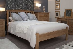 Homestyle Opus Solid Oak Arched 4'6″ Double Bed
