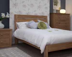 Homestyle Trend Solid Oak 5′ King Size Bed