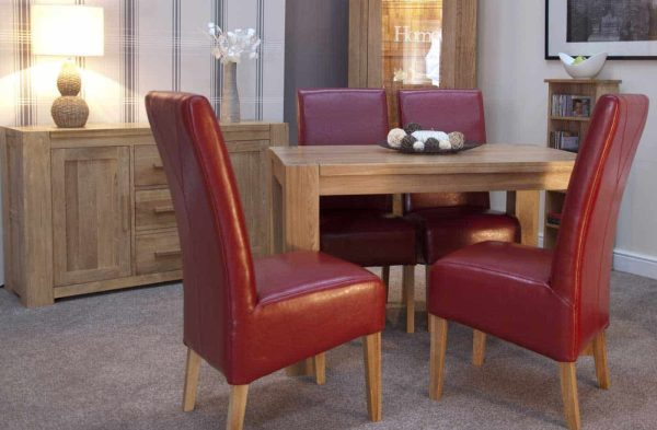 Homestyle Trend Solid Oak Small 1.25m Fixed Top Dining Table (TABLE ONLY)