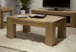 Homestyle Trend Solid Oak 4′ X 2′ Coffee Table