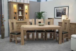 Homestyle Trend Solid Oak Large 1.8m Fxed Top Dining Table (TABLE ONLY)