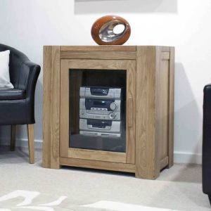 Homestyle Trend Solid Oak 1 Door HiFi  Entertainment Cabinet | Fully Assembled