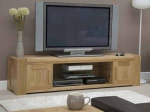 Homestyle Trend Solid Oak Large Plasma Unit | Fully Assembled