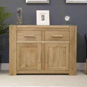 Homestyle Trend Solid Oak Medium Sideboard 2 Drawer 2 Door | Fully Assembled