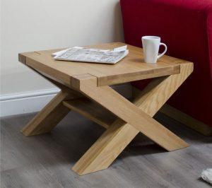 Homestyle Trend Solid Oak X Leg 2′ x 2′ Coffee Table