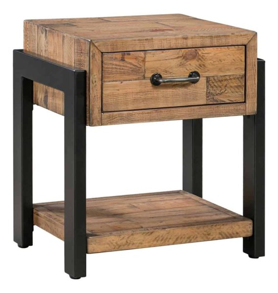 Urban Lamp Table with 1 Drawer | Fully Assembled