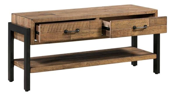 Urban Loft 2 Drawer TV Cabinet with Shelf | Fully Assembled