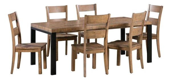 Urban Loft Dining Chair with Timber Seat (Pack of 2) | Fully Assembled