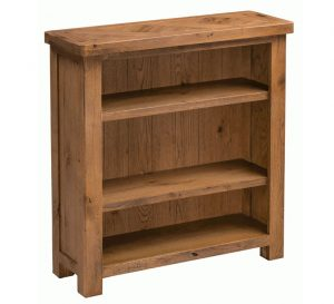 Homestyle Aztec Oak Small Bookcase With 2 Shelves | Fully Assembled