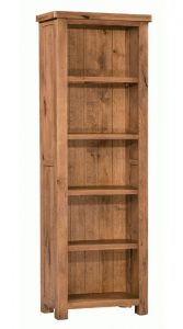 Homestyle Aztec Oak Slim/Narrow Bookcase With 4 Shelves | Fully Assembled