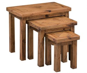 Homestyle Aztec Oak Triple Nest Of Tables | Fully Assembled