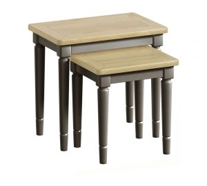Classic Harmony Painted Pewter Nest of Tables