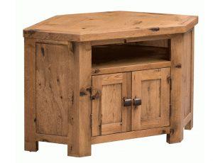 Homestyle Aztec Oak 2 Door Corner TV Cabinet   Fully Assembled