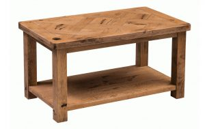 Homestyle Aztec Oak 95cm Coffee Table With Shelf