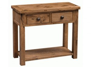 Homestyle Aztec 2 Drawer Oak Hall Table With Shelf
