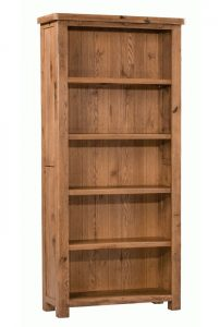 Homestyle Aztec Oak Large Bookcase With 4 Shelves | Fully Assembled