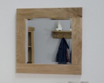 Opus Oak Small Wall Mirror 60cm x 60cm