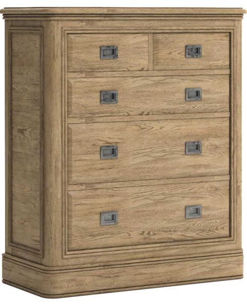 Versailles French Oak 2 over 3 Chest of Drawers | Fully Assembled