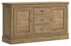 Versailles French Oak Large Sideboard with 3 Drawers & 2 Doors | Fully Assembled