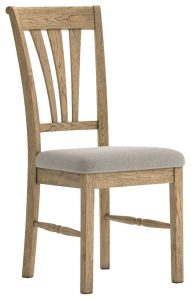 Versailles French Oak Dining Chair with Almond seat (Pair) | Fully Assembled