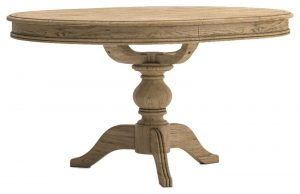 Versailles French Oak Round Extending Dining Table 1.1M – 1.45M