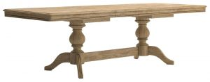 Versailles French Oak Large 1.8M-2.5M  Extending Dining Table
