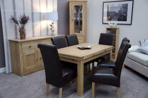Homestyle Opus Solid Oak Medium Draw Leaf Dining Table
